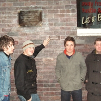 Arctic Monkeys presented their brick in the Cavern wall.