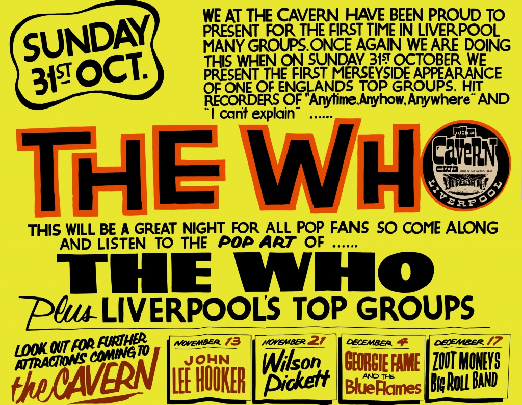the who live at cavern club poster tin sign cavern club. Black Bedroom Furniture Sets. Home Design Ideas